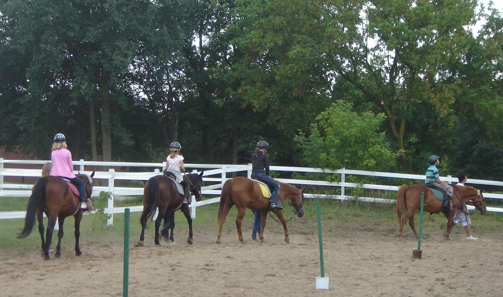 campers on horseback